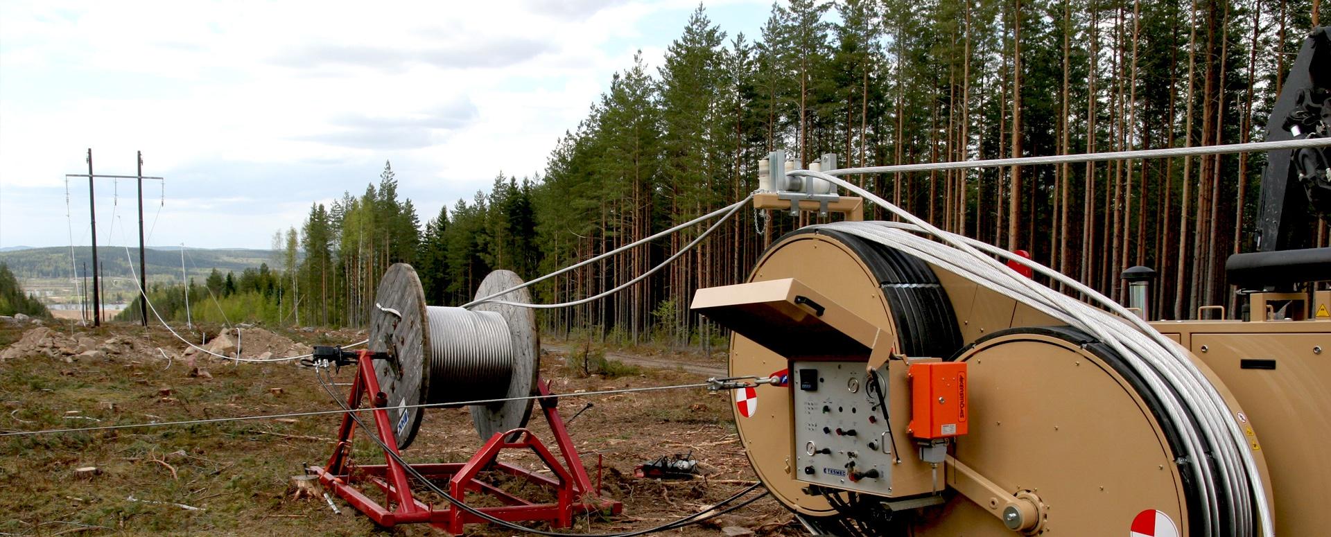 Projektledning  Ny 145 kV ledning Hedemora-Garpenberg.